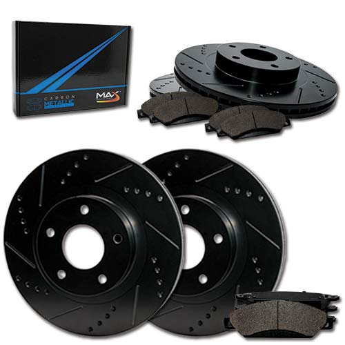 - Max Brakes Front + Rear E-Coated Slotted Drilled Rotors w/Metallic Pads Elite Brake Kit TA150683 | Fits: 2000 00 2001 01 Audi A4 Quattro AWD Models w/320mm Front Rotors