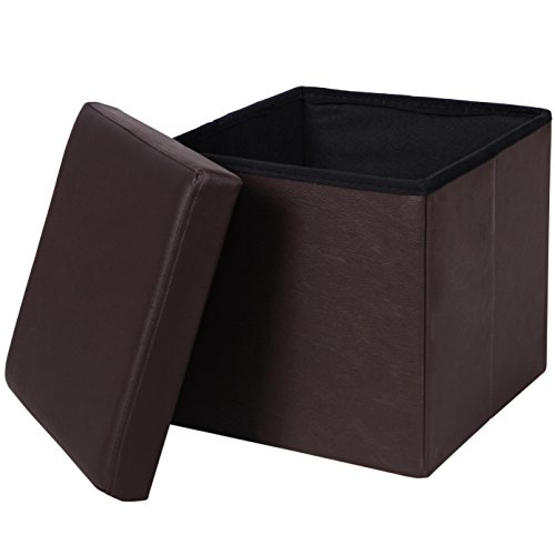 songmics-faux-leather-folding-storage-ottoman-cube-foot-rest-stool-seat-14-7-8-brown-ulsf10b