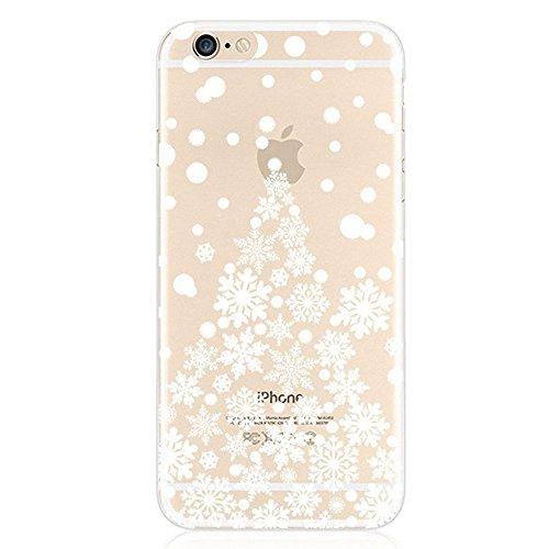 iPhone 7 Silikon Hülle,iPhone 7 Glitzer Hülle,iPhone 7 Transparent Hülle,iPhone 7 Crystal Clear TPU Case Hülle Klare Cristall Silikon Gel Schutzhülle Etui für iPhone 7 4.7 Zoll,EMAXELERS iPhone 7 (4.7 E Christmas TPU 4