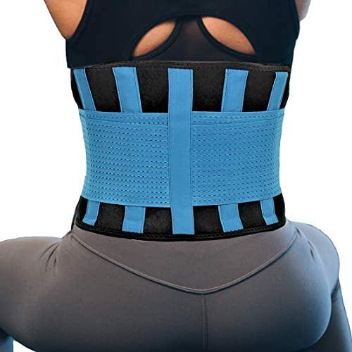 RiptGear Back Brace for Men and Women - Back Pain Relief Support for Lower Back Pain and Hip Pain - Lumbar Severe Back Pain Relief for Herniated Disc and Sciatica (Blue, X-Large)