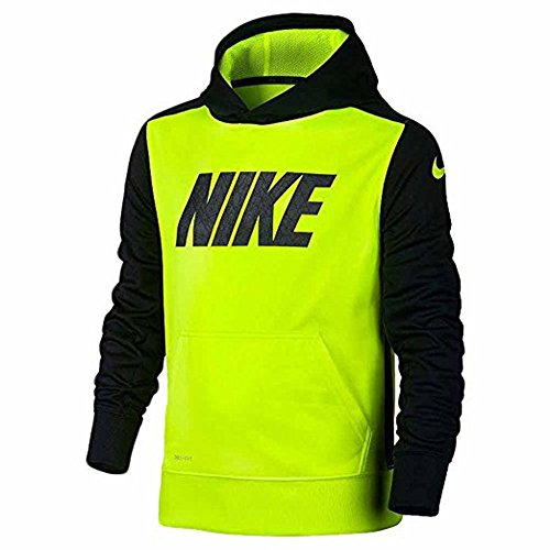 Boys' Nike KO Logo Fleece Training Hoodie Volt Black 8055...