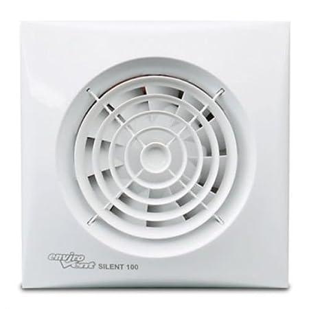 Envirovent Silent 100 HT Bathroom Extractor Fan Humidistat U0026 Timer