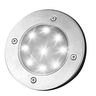 Lampes Solaires De Sol 9 Led Etanche Broches Lampe Chemin Lumiere