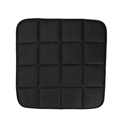 JULUJ 42cm42cm Bamboo Charcoal Breathable Car Seat Cushion Pad Chair Mat - Black