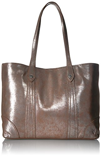 FRYE Melissa Shopper Tote Leather Handbag, Silver/Multi , One Size ()