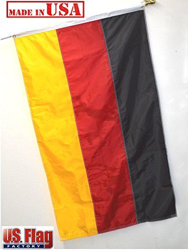 US Flag Factory 3'x5' Germany German Flag  - Outdoor SolarMa