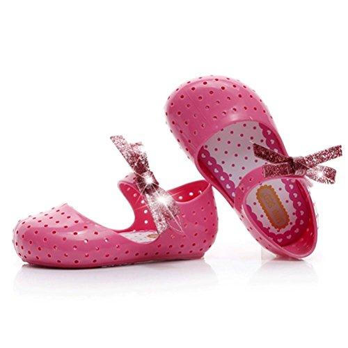 Jamicy® Baby Mode Gummi Sneaker Kind Kleinkind Kinder Bogen Prinzessin Casual Einzelne Schuhe Pink