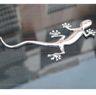 3 D Chrome Car Sticker Gecko Stickers Self Adhesive