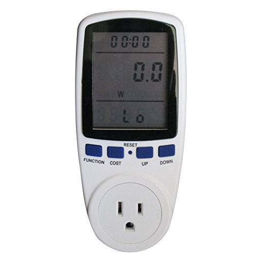 Taiss LCD Display Smart Plug Power Meter Energy Watt Voltage Amps Meter with Electricity Usage Monitor Reduce Your Energy Costs