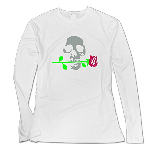 Engtaiquji Death Rose 092011 B 3c Custom Women's Blank Long Sleeve T-Shirt Size L Color (Remake Halloween 2017)