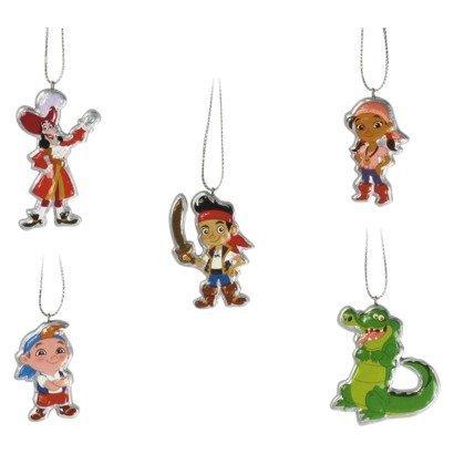 Disney Jake & Neverland Pirates 5 Piece Christmas Ornament Set