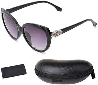 UV400 Women Sunglasses, Black lens with Black Frame