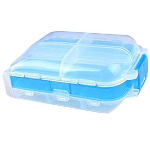 Portable Travel First-Aid Kit Medicine Storage Box Pill Sorter Container Blue by Kylin Express