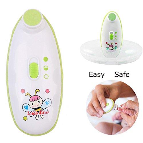 SkySea Kleine Bienen Baby Elektrisch Nagel-Trimmer mit 4 Austauschbar Datei Pads Baby Nagelknipser für Sicher und Wirksam