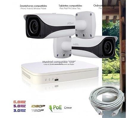 Dahua PoE IP Video Surveillance Kit with 2 Outdoor IP