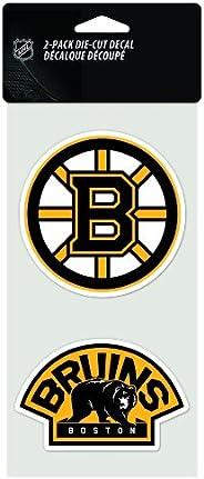 WinCraft NHL Boston Bruins 4 by 8 Die Cut Decal