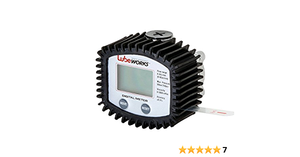 Synthetic Hydraulic Gear Oil Transmission Fluid n Liter Digital Oil Control Valve Meter Nozzle Fuel Meter Nozzle with Accuracy LCD Reading Meter for Motor Pint /& Quart Gallon