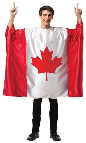 Men's Canada Flag Tunic St. Joseph Day Adult Halloween Canadian Costume, OS (48-52) ()