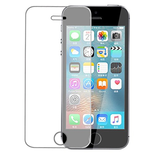 iPhone SE/5C/5/5S 4 inch Screen Protector, WONOUS New 9H Anti-Spy Privacy Tempered Glass Protective Film Screen For iPhone SE/5C/5/5S 4 inch