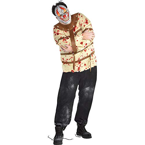 Scary Do It Yourself Halloween Costumes (amscan Psycho Clown Halloween Costume for Men, Plus Size, with Included)