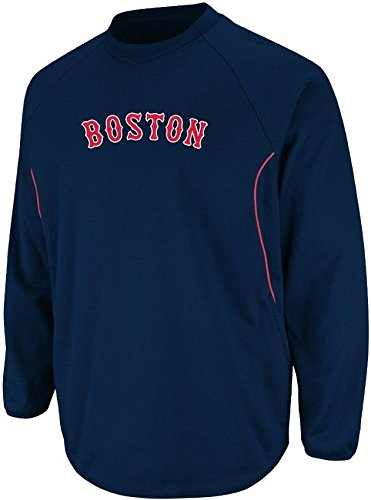 Sweatshirt Base Therma (Majestic Boston Red Sox Authentic Therma Base Tech Navy Fleece Big & Tall Sizes (6XL))
