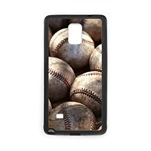 DIY Protective Snap-on Hard Back Case Cover for Samsung Galaxy Note 4 with Baseball