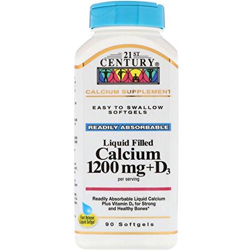 - 21st Century, Liquid Filled Calcium 1200 mg + D3, 90 Softgels