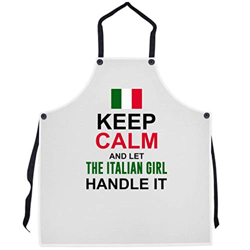P.S. I Love Italy Let The Italian Girl Handle It Apron - Italian Themed Cool and Cute Bib Aprons for Men and Women
