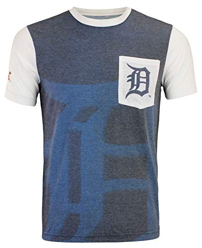 (Klew FOCO MLB Detroit Tigers 2016 Cotton/Poly Pocket TEE Double Extra Large)