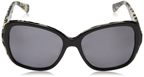 Kate Spade Women's Karalyns Polarized Square Sunglasses, Black Havana, 56 Mm