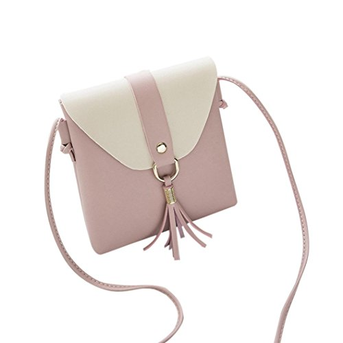 (Clearance Sales Womens Girls Tassels Messenger Bags Afterso Fashion Vintage Crossbody Shoulder bags Casual Wristlets Totes Clutch Purse Wallet Handbags (16cm/6.3