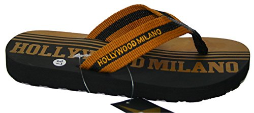 Hollywood Milano Unisex Thong Mod.hm030t S Bleu / Or