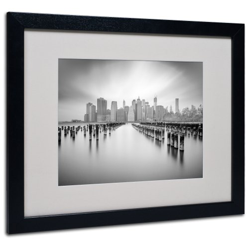 Trademark Fine Art NYC 1 by Moises Levy Matted Framed Art, 16 by 20-Inch, Black (Trading Post Nyc)
