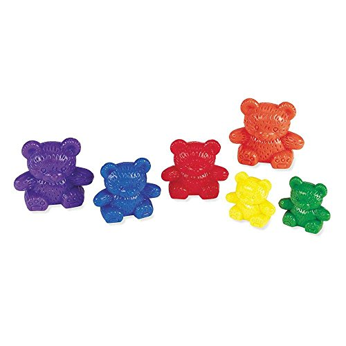Learning Resources Three Bear Family Counters, Educational Counting and Sorting Toy, Rainbow, Autism Therapy Tool, Size Awareness, Set of 96 Ages 3+