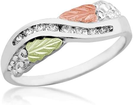 Landstroms Black Hills Silver Ladies Diamond Ring - LR2303XSS