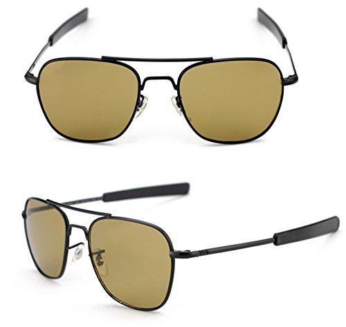 de uv400 baïonnette air aviateur Pilote cuivre l'armée hommes américain lunettes les temples force Noir qxfzAB