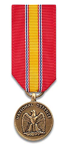 National Defense Service mini-Medal, bronze finish