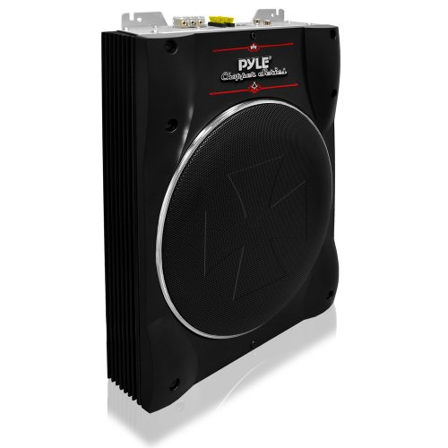 Pyle PLBASS10 10-Inch Low-Profile Super-Slim Active Amplified Subwoofer System
