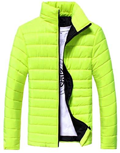 Alla Colore Di Inverno Verde Outwear Mens Moda Cappotto Colletto Solido Coreana Gocgt Sottile OqApEw