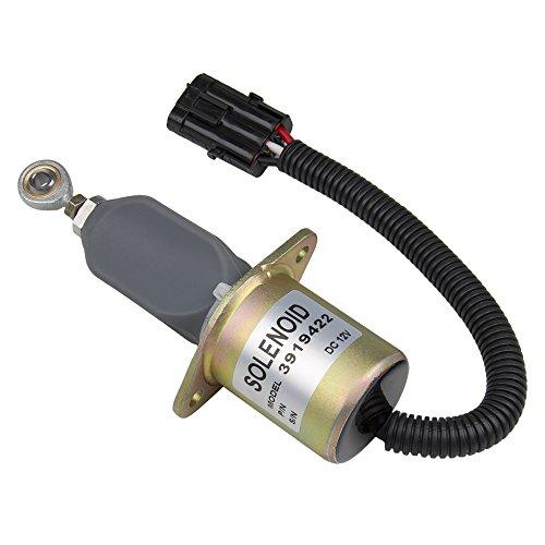 Big-Autoparts Fuel Start Shut Off Shut Down Solenoid For Ford Cummins Diesel 2-1/2 bolt spacing 8.3L 5.9L #3919422 (Diesel Shut Off Solenoid)