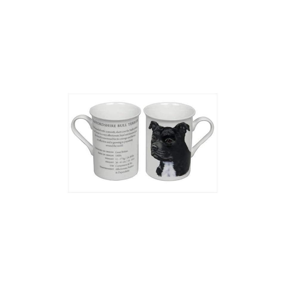 Best of Breed   Staffordshire Bull Terrier Black Fine Bone China Gift Boxed Mug