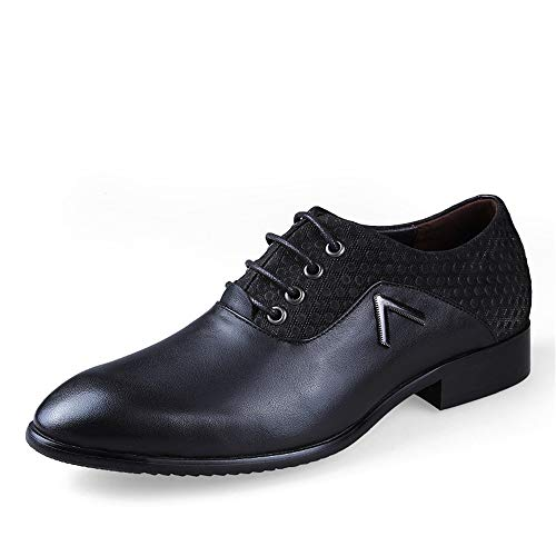 Transpirable Negocios tamaño Color Gran de Jusheng Hombres de Classics Punta EU tamaño Light y Suave de Casual 38 Oxford para Brown Negro Zapatos Oxford SqxSPRa