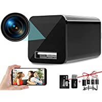 Hidden Camera Charger WiFi,USB Spy Camera Charger,Spy Cameras Wireless Hidden 1080P HD Live Streaming with App, Nanny…