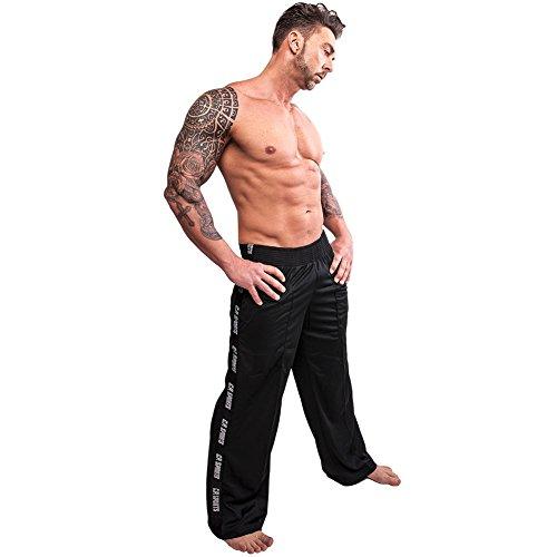 Pantalones de fitness S9, pantalones de deporte F. De Fitness y Entrenamiento de la Fuerza/Color: Azul/Hombre, Mujer, negro, L / 7 = 52
