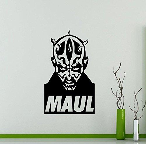 Darth Maul Star Wars Wall Decals Poster Vinyl Sticker Home Teen Star Wars Characters Devil Sith Lord Kids Room Nursery Art Decor Stencil Mural -