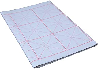 Tianjintang Chinese Calligraphy Writing Sumi Paper/Xuan Zhi Paper/Rice Paper for Beginner 20 Sheets 34cmx69cm, Red Grid Size:10cm