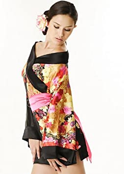 Para Mujer Sexy japonés Mulan Geisha Night satén vestido de ...