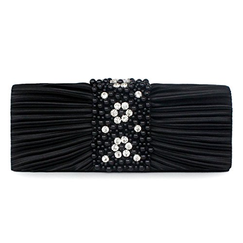 Marsen Evening Purses Handbag Clutch Clutches black Style Women 3 and AgrqaUAHw