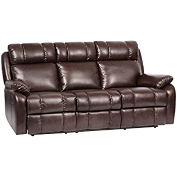 BestMassage Recliner Sofa Leather Sofa Recliner Couch Manual Reclining Sofa  Recliner Chair, Love Seat,