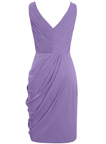 Gowns Pleated Evening Dresses Cdress Neck Cocktail V Chiffon Homecoming Ivory Short Dress vqnSnp4